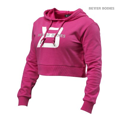 BB Cropped Hoodie - Hot Pink, (Vain L-koko)