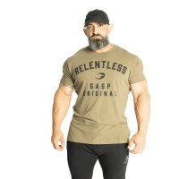 GASP Relentless Skull Tee - Washed Green