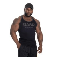 GASP Ribbed T-back -Black