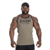 GASP Ribbed T-back - Washed Green