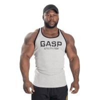 GASP Ribbed T-back - Greymelange