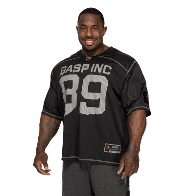 GASP No 1 Football Tee - Black
