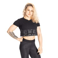 BB Astoria Cropped Tee - Black