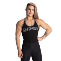 GASP Rib Crop T-back - Black