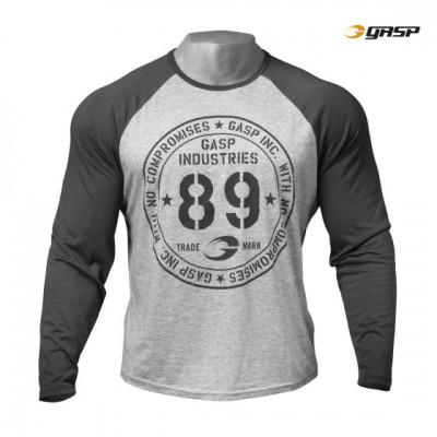 GASP Raglan l/s tee - Grey Melange, (Vain L- ja XL-koko)