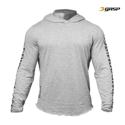 GASP No Compromise Hood - Grey Melange, (Vain 3XL-koko)