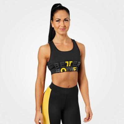 BB Bowery Sports Bra - Black/Yellow