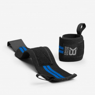 BB Elastic Wrist Wraps - Black/Blue