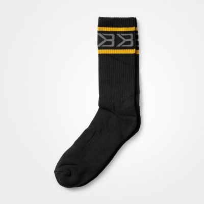 BB Tribeca Socks 2-pr - Black/Yellow