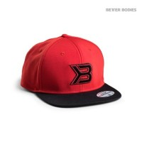 BB Flat bill Cap - Red/Black