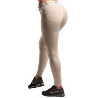 XXL Fitness Legging Tight - Beige, (Vain XS- ja L-koko)
