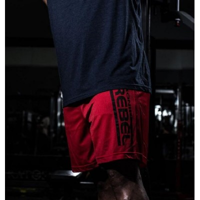 Iron Rebel Training Day Shorts - Red