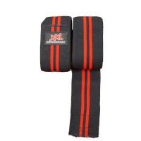 XXL Knee Wraps - Black-Red