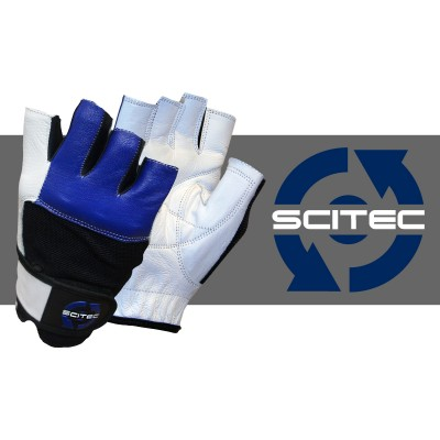 Scitec Weightlifting Gloves - Blue Style