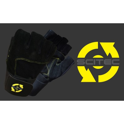Scitec Weightlifting Gloves - Yellow Style