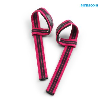 BB Womens lifting straps - Hot Pink