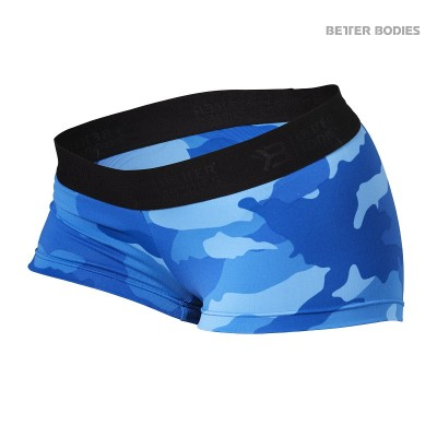 BB Fitness Hotpants - Blue Camoprint