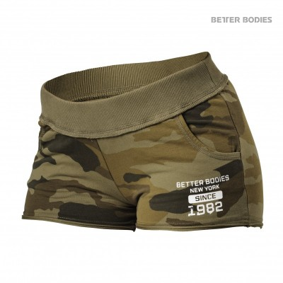 BB Rough Sweatshorts - Dark Green Camo