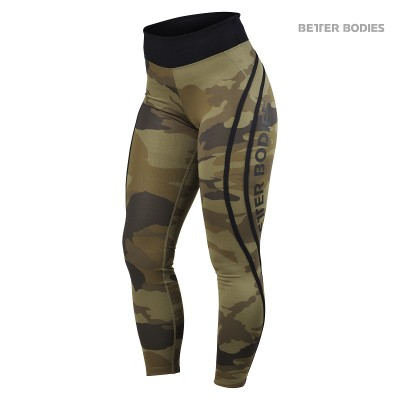BB Camo High Tights - Dark Green Camo