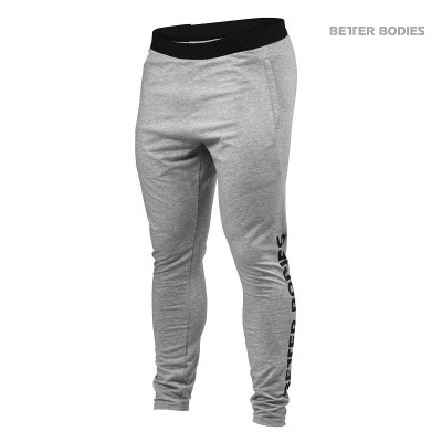 BB Hudson Jersey Pants - Grey Melange, (Vain XXL-koko)