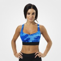 BB Athlete Short top - Blue Camo, (Vain M-koko)