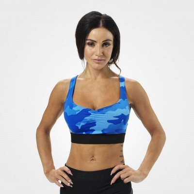 BB Athlete Short top - Blue Camo, (L-koko loppu)
