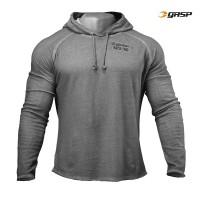 GASP Heritage Hood - Grey Melange, (Vain L-, XL- ja XXL-koko)