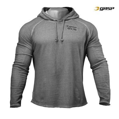 GASP Heritage Hood - Grey Melange, (Vain L-, XL- ja XXL-koko
