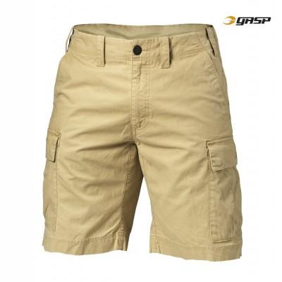 GASP Rough Cargo Shorts - Dark Sand, (Vain M- ja L-koko)