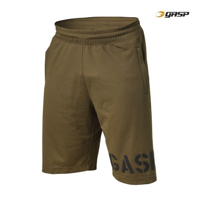 GASP Essential Mesh Shorts - Military Olive, (Vain S-, M- ja L-koko)