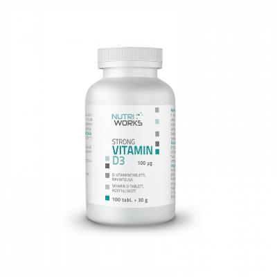 Nutri Works Strong Vitamin D3 100mcg, 100 tabl.