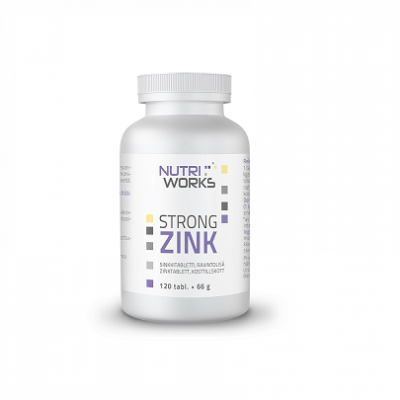 Nutri Works Strong Zink 25mg, 120 tabl.