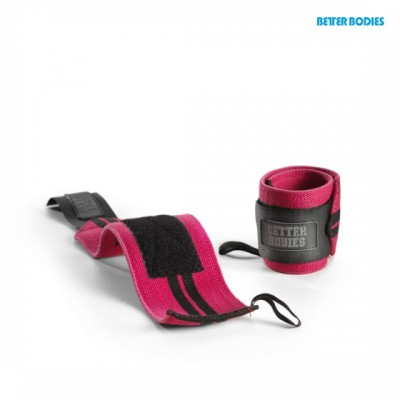 BB Womens Wrist Wraps - Hot Pink