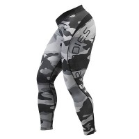 BB Camo Long Tights - Grey Camoprint, (XS, S)